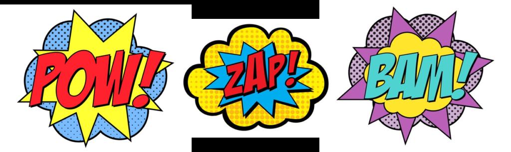 pow-zap-bam superhero marketing Start Small Go Big small business