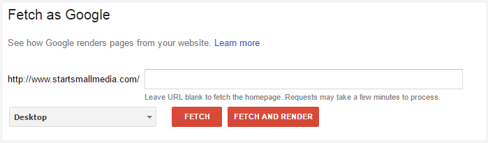 fetch as google - google fetch and render