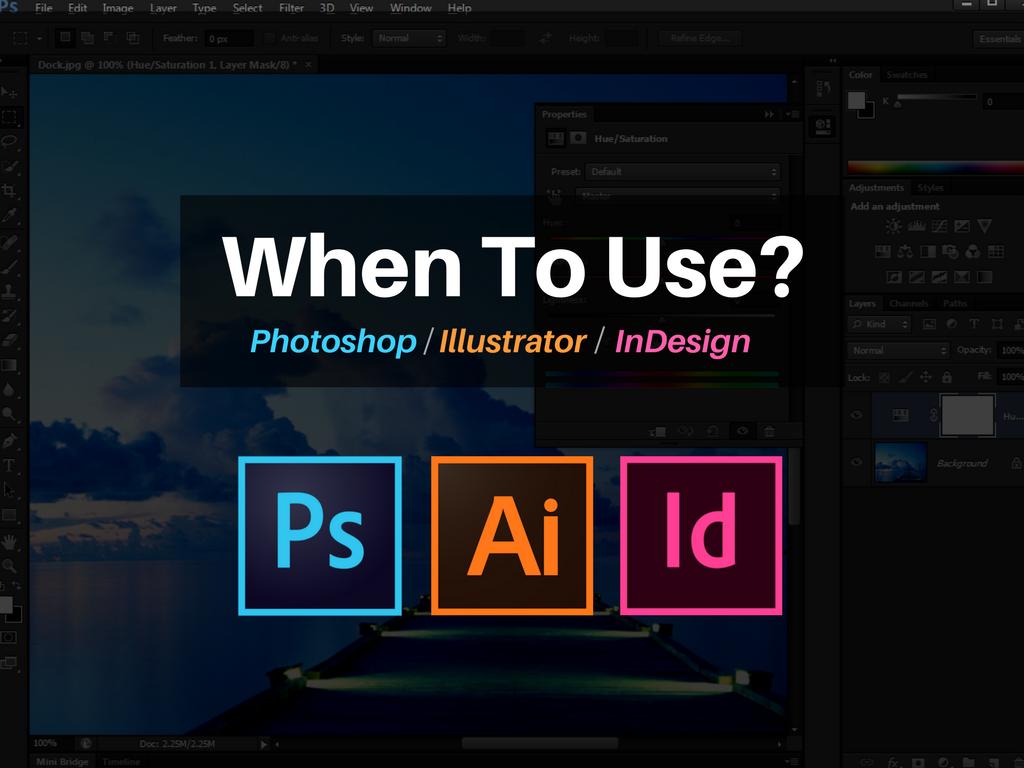 indesign illustrator photoshop what adobe program should i use