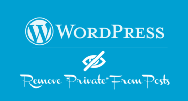 Remove Private from posts in Wordpress blog