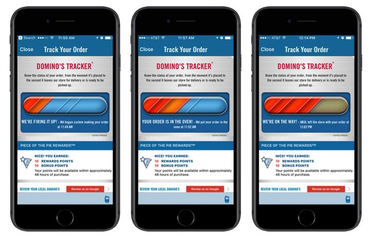 dominos-tracker app