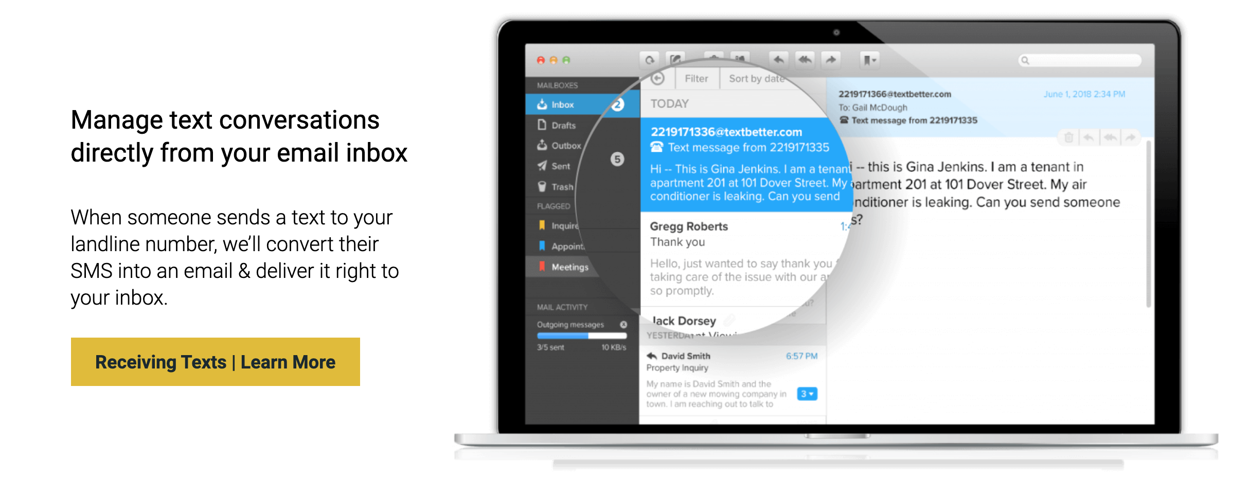 text messaging from email textbetter